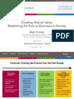 Creating Shared Value Kramer Presentation