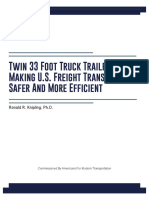 Twin 33 Foot Truck Trailers