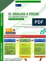 El análisis a Priori en la ingeniería didáctica