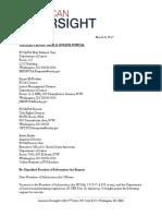 March 9, 2017 - American Oversight FOIA Request to DOJ (DOJ-17-0010)