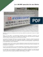Foxconn Reemplaza a Operarios Por Robots