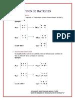 Bereche-tipos de Matrices