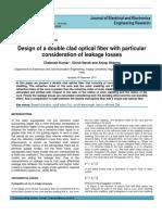 44 Design of a Double Clad Optical Fiber