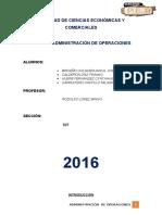 ADMINISTRACIÓN DE OPERACIONES - EMPRESA INDUSTRIAL