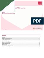 Cambridge AS-AL Structure of Work - Business Studies