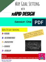 three way goal setting rapid design thinking session 1