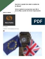 Parlamento Não Deve Ter o Poder de Vetar a Saída Da UE, Diz Ministro Do Brexit _ Economia _ G1