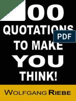 100 Quotations