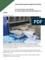 G1 - Quadrilha Fortemente Armada Explode Agência Bancária de Jarinu - Notícias Em Sorocaba e Jundiaí