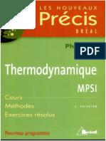 Precis Thermodynamique MPSI
