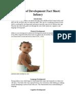 periods of development fact sheet- infancy