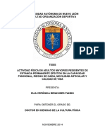 ACTIVIDAD FÍSICA EN ADULTOS MAYORES RESIDENTES DE ESTANCIA PERMANENTE EFECTOS EN LA CAPACIDAD FUNCIONAL, RIESGO DE CAÍDA, MOVILIDAD ARTICULAR Y CALIDAD DE VIDA