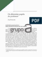 Artigo - Os Diferentes Papéis Do Professor - Guy Brousseau