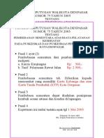 Petikan Keputusan Walikota Denpasar