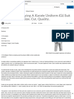 Advice for Buying a Karate Uniform (Gi) Suit Size, Cut, Quality.