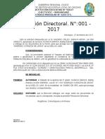 RD N° 001 - APRUEBA TRASLADO