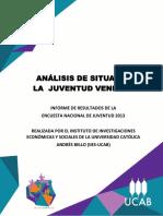UCAB Análisis de Situación de La Juventud Venezolana ENJUVE