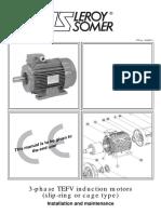 Manual de Instalacion y Mantenimiento del motor Leroy Somer