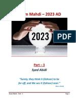 End Times and Imam Mahdi