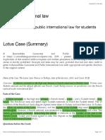 Lotus Case (Summary) | Public International law