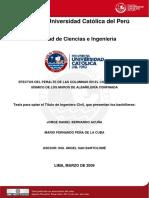 2009 Efectos Del Peralte de Las Columnas en El Comportamiento Sismico de Los Muros de Albañileria Confinada