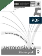 Antología Quinto Grado