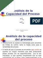 TEORÍA Análisis de capacidad del proceso