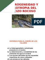 Heterogeneidad y Anisotropia Del Macizo Rocoso