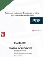 Redes Ruta Corta Arbol de Expansion Minima Flujo Maximo Redes Pert-CPM