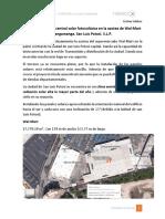 Instalación de Una Central Solar Fotovoltaica en La Azotea