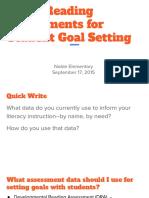 using assessments for student-goal setting