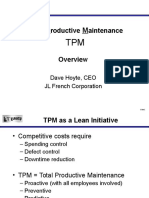 Lean TPM - Downtime Waste Controls