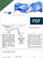 Secretarías del Gobierno Mexicano
