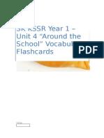 SK KSSR YR1-Unit 4 Vocab Flashcards