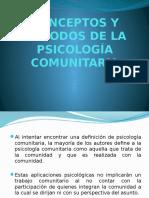 Conceptos y Métodos de La Psicología Comunitaria