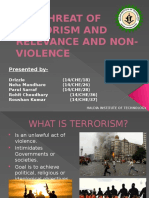 The Threat of Terrorism and Relevance and Non-Violence