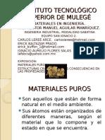 materiales puros, estructuras cristalinas y sus consecuencias en las propiedades (equipo2).ppt