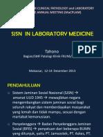 SJSN in Laboratory Medicine MAKASSAR 2013