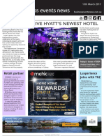 Business Events News for Mon 13 Mar 2017 - Events drive new Hyatt Regency, BESydney partners with Mirvac Retail, AIME's 3,900 visitors, ATEC event to be held in Perth, and more