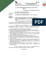 Oficio - Mantenimiento Directora Ugel