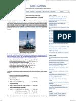 Contoh Perhitungan Biaya Pekerjaan Pondasi Tiang Pancang - Rumah Material