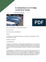 Usucapión de Automotores en El Código Civil y Comercial de La
