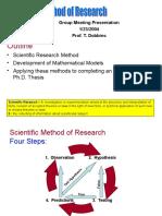 Scientific Method of Research