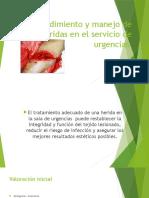 Procedimiento y manejo de heridas en el servicio.pptx