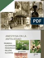 1. Historia de La Anestesia