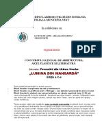 Regulament Concurs Lumina Din Mansarda Targoviste- 2017