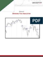 Ninjacators OpeningTick Manual