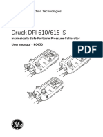 GE Druck DPI610 615 is Manual