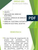 Unidad 1 Derecho Electoral