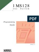 Karel MS128 Programming Guide